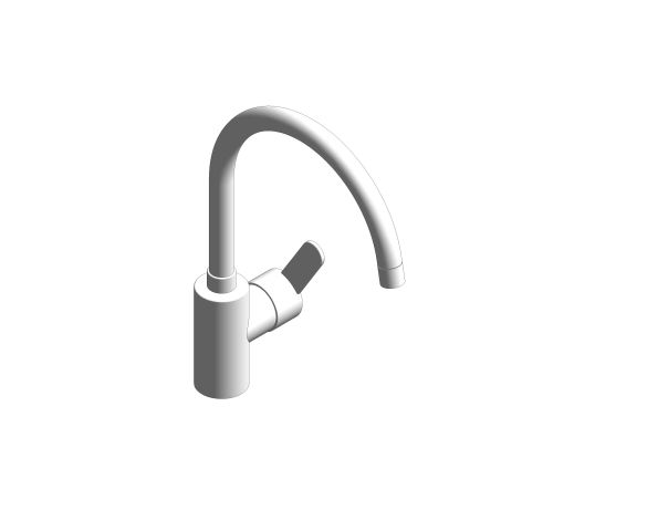 bimstore 3D image of the Eurostyle Cosmopolitan Single Lever Sink Mixer - 33975004 from Grohe