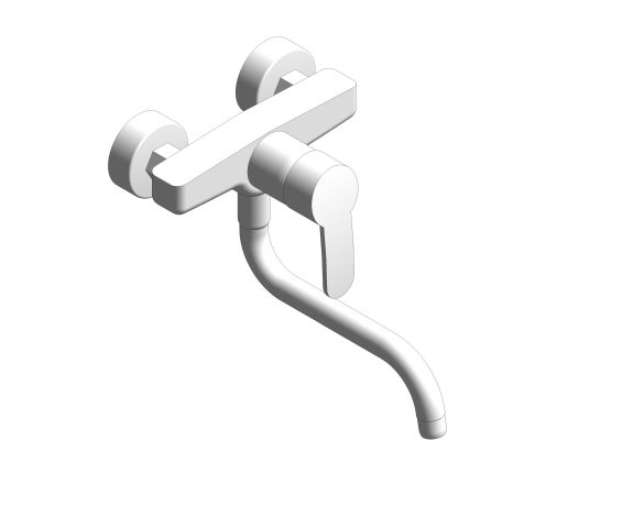 bimstore 3D image of the Eurostyle Cosmopolitan Single Lever Sink Mixer - 33982002 from Grohe