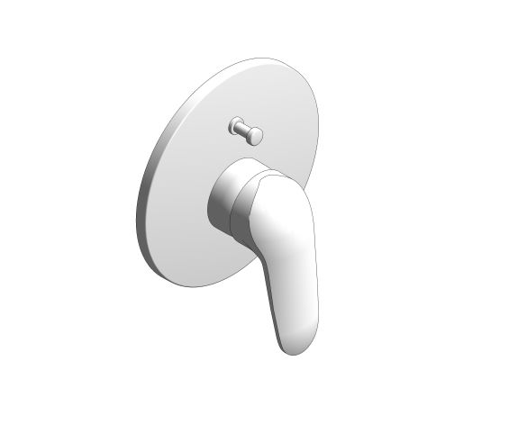 bimstore 3D image of the Eurostyle Single Lever Bath Shower Mixer Trim - 29099003 from Grohe
