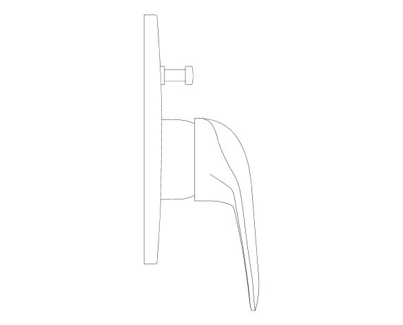 bimstore side image of the Eurostyle Single Lever Bath Shower Mixer Trim - 29099003 from Grohe