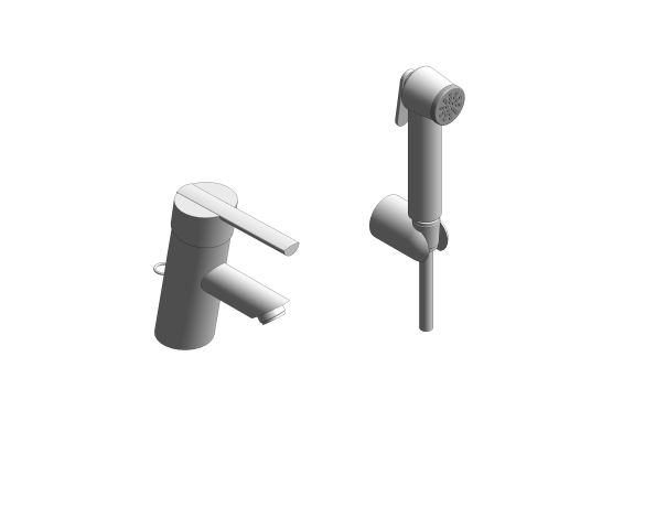 bimstore 3D image of the Feel Single Lever Basin Mixer 1/2″ S-Size - 23954000 from Grohe