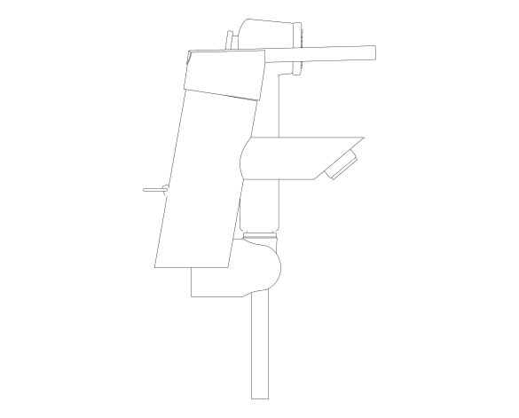 bimstore side image of the Feel Single Lever Basin Mixer 1/2″ S-Size - 23954000 from Grohe