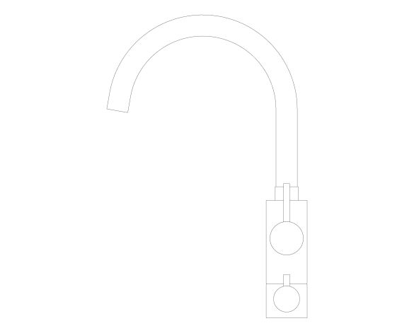 bimstore side image of the Concetto Kitchen Faucet 31793000 from Grohe