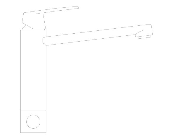 bimstore side image of the Eurosmart Kitchen Faucet - 31791000 from Grohe