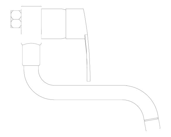 bimstore side image of the Eurostyle Kitchen Faucet - 31794000 from Grohe