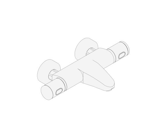 """bimstore 3D image of the Grohtherm 1000 Performance Thermostatic bath mixer 1/2"""" - 34779000 from Grohe"""