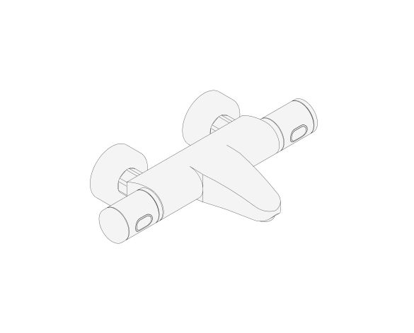 "bimstore 3D image of the Grohtherm 1000 Performance Thermostatic bath mixer 1/2"" FR NF C/3 - 34782000 from Grohe"