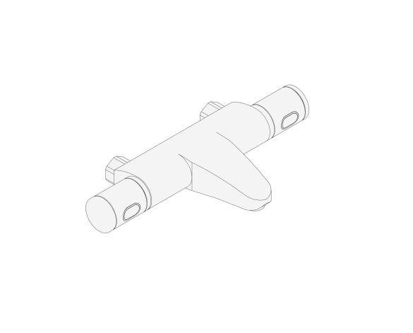 """bimstore 3D image of the Grohtherm 1000 Performance Thermostatic bath mixer 1/2"""" w/o unions - 34780000 from Grohe"""