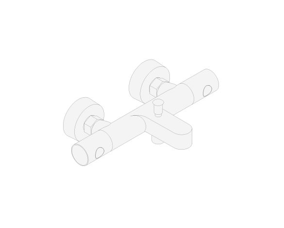 """bimstore 3D image of the Grohtherm 800 Cosmopolitan Thermostatic bath mixer 1/2"""" - 34766000 from Grohe"""