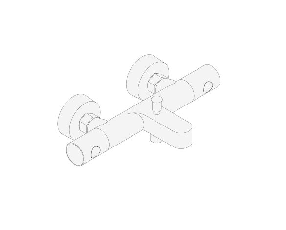 """bimstore 3D image of the Grohtherm 800 Cosmopolitan Thermostatic bath mixer 1/2"""" F, NF/C3 - 34772000 from Grohe"""