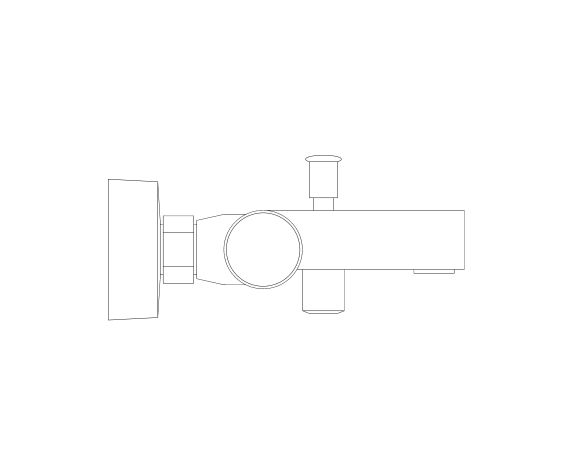 """bimstore side image of the Grohtherm 800 Cosmopolitan Thermostatic bath mixer 1/2"""" F, NF/C3 - 34772000 from Grohe"""
