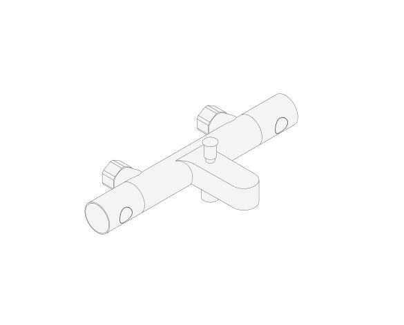 """bimstore 3D image of the Grohtherm 800 Cosmopolitan Thermostatic bath mixer 1/2"""" w/o unions - 34770000 from Grohe"""