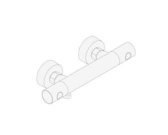 """bimstore 3D image of the Grohtherm 800 Cosmopolitan Thermostatic shower mixer 1/2"""" FR, NF/C3 - 34771000 from Grohe"""