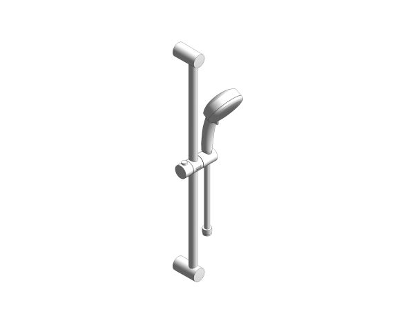 bimstore 3D image of the New Tempesta Cosmopolitan 100IV Shower Rail Set - 26621000 from Grohe