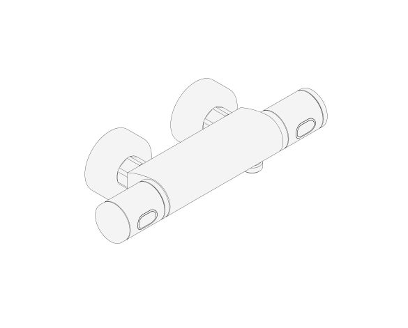 """bimstore 3D image of the Precision Feel Thermostatic shower mixer 1/2"""" 120mm - 34789000 from Grohe"""