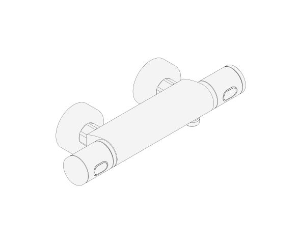 """bimstore 3D image of the Precision Feel Thermostatic shower mixer 1/2"""" - 34790000 from Grohe"""