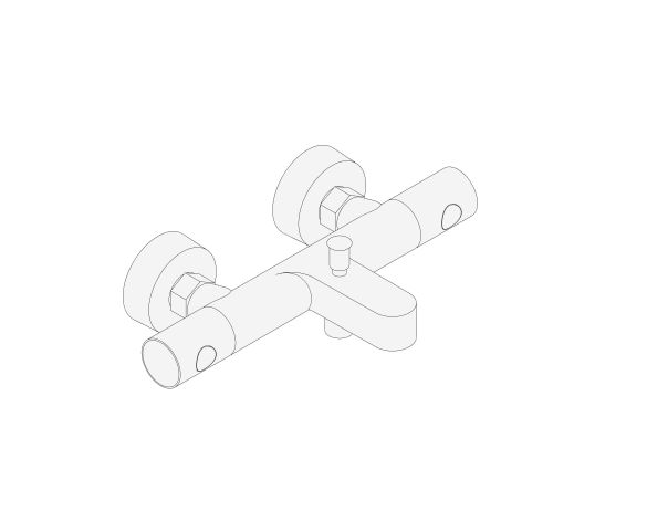 """bimstore 3D image of the Precision Get Thermostatic bath mixer 1/2"""" - 34774000 from Grohe"""