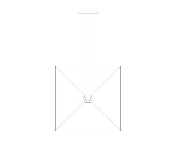 bimstore plan image of the Rainshower - Mono 310 Cube - 26564000 from Grohe