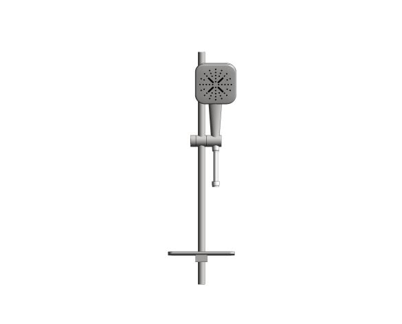 bimstore front image of the Rainshower Smart Active 130 Cube Shower Rail Set 600 - 26622000 from Grohe