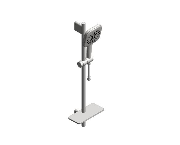 bimstore 3D image of the Rainshower Smart Active 130 Cube Shower Rail Set 600 - 26622000 from Grohe