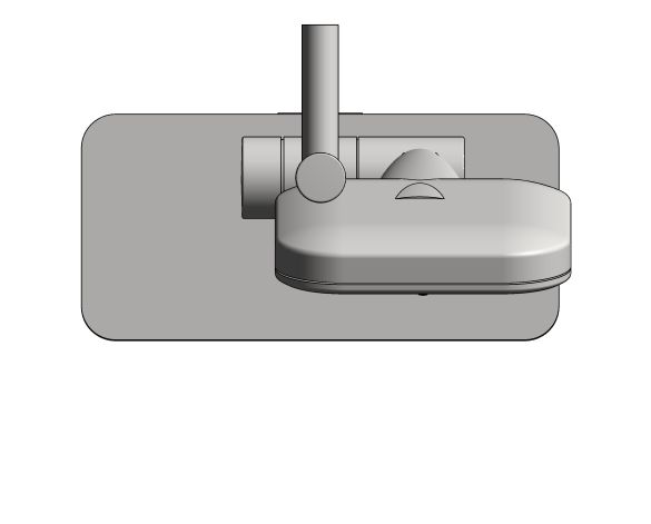 bimstore plan image of the Rainshower Smart Active 130 Cube Shower Rail Set 600 - 26622000 from Grohe