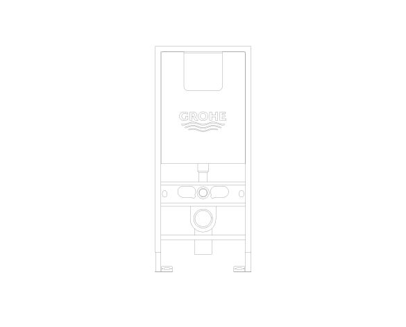 bimstore front image of the Rapid SLX Wall Hung WC Frame - 39596000 from Grohe