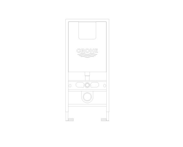 bimstore front image of the Rapid SLX Wall Hung WC Frame - 39597000 from Grohe