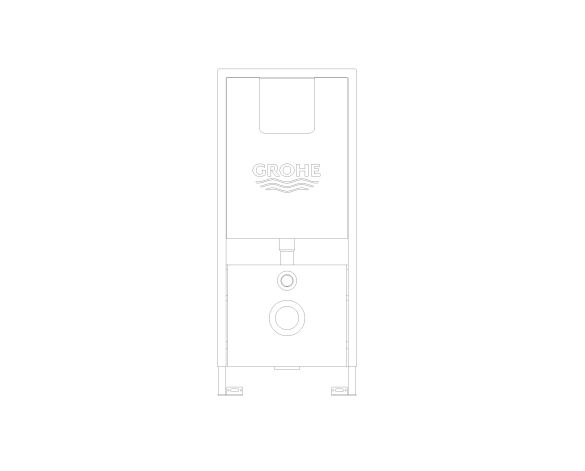 bimstore front image of the Rapid SLX Wall Hung WC Frame - 39598000 from Grohe