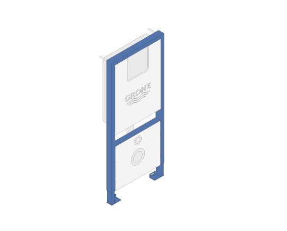 bimstore 3D image of the Rapid SLX Wall Hung WC Frame - 39598000 from Grohe