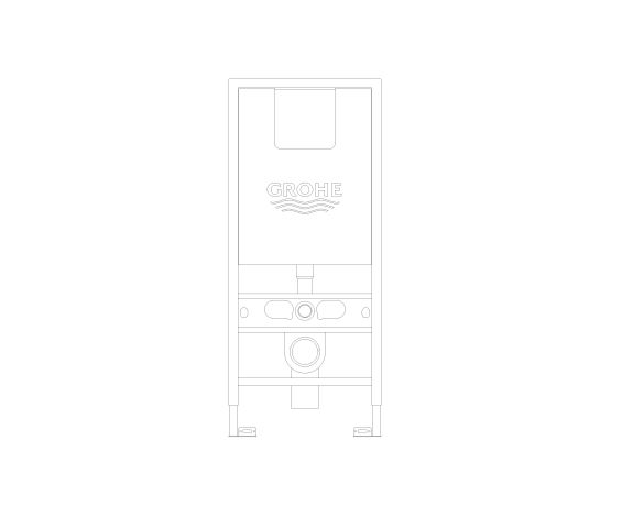 bimstore front image of the Rapid SLX Wall Hung WC Frame - 39602000 from Grohe