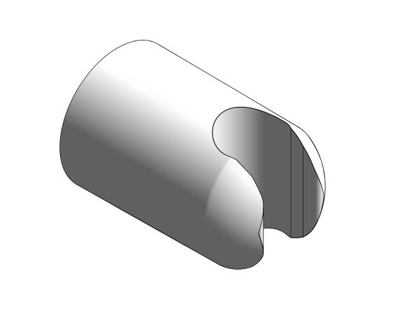 bimstore 3D image of the Relexa Wall Hand Shower Holder - 28605000 from Grohe