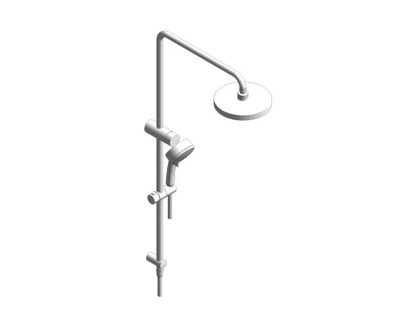 bimstore 3D image of the RetroFit 200 Shower System - 26609000 from Grohe