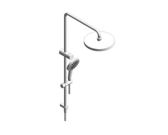 bimstore 3D image of the RetroFit 210 Shower System - 26612000 from Grohe