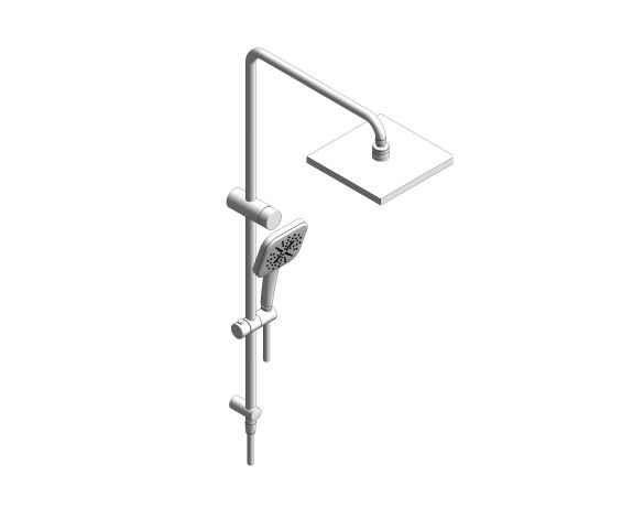 bimstore 3D image of the RetroFit 230 Cube Shower System - 26611000 from Grohe