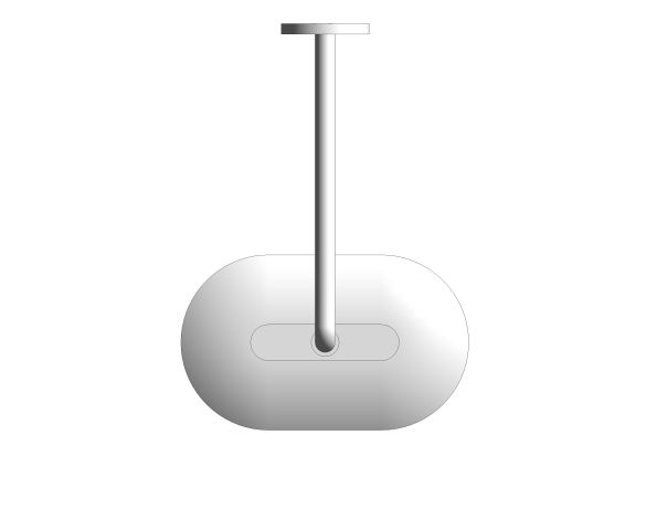 bimstore plan image of the Smart Control 360 Head Shower - 26625000 from Grohe