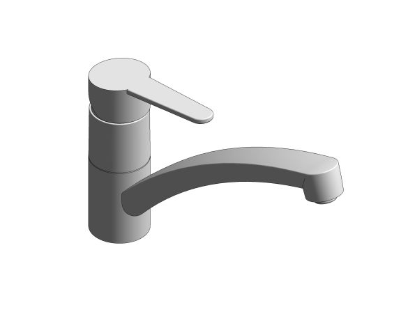 bimstore 3D image of the StartEco OHM Sink Mixer - Low Spout - 31685000 from Grohe