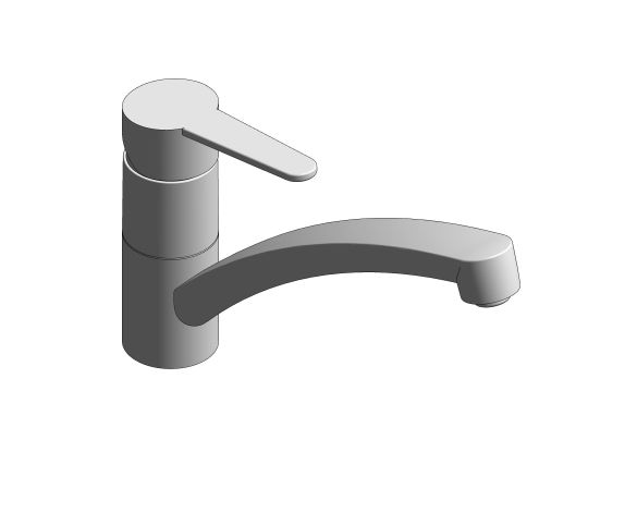 bimstore 3D image of the StartEco OHM Sink Mixer - Low Spout Kingfisher - 31686000 from Grohe