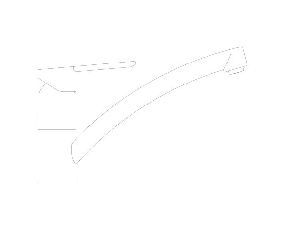bimstore side image of the StartEco OHM Sink Mixer - Low Spout Kingfisher - 31686000 from Grohe