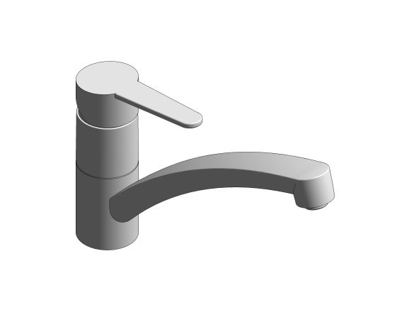 bimstore 3D image of the StartEco OHM Sink Mixer - Low Spout Kingfisher - 31687000 from Grohe