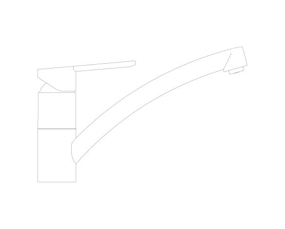 bimstore side image of the StartEco OHM Sink Mixer - Low Spout Kingfisher - 31687000 from Grohe