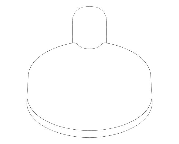 bimstore plan image of the Tempesta Cosmopolitan 100 Hand Shower 4 Sprays - 27573002 from Grohe