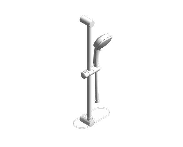 bimstore 3D image of the Tempesta Cosmopolitan 100 Shower Rail Set 3 Sprays - 27929002 from Grohe