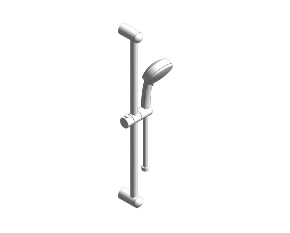 bimstore 3D image of the Tempesta Cosmopolitan 100 Shower Rail Set 4 Sprays - 27787002 from Grohe