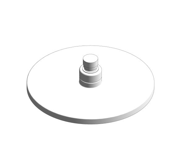 bimstore 3D image of the Tempesta Cosmopolitan 200 Head Shower 1 Spray - 27541001 from Grohe