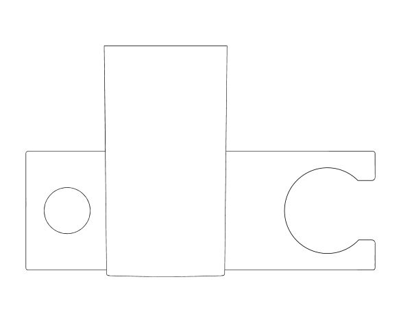 bimstore plan image of the Tempesta Cosmopolitan Shower Rail 600mm - 27521000 from Grohe