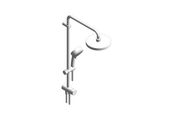 bimstore 3D image of the Tempesta Cosmopolitan System 200 Shower System With Diverter - 27394002 from Grohe