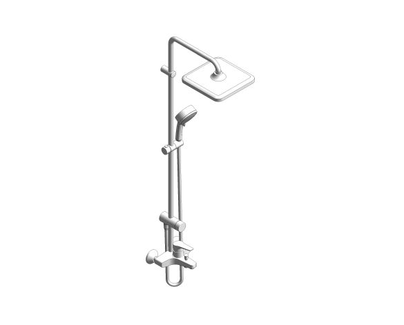 bimstore 3D image of the Tempesta System - 250 Cube Shower System - 26693000 from Grohe