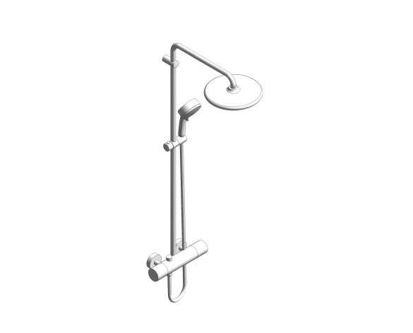 bimstore 3D image of the Tempesta System - 250 Shower System - 26670000 from Grohe