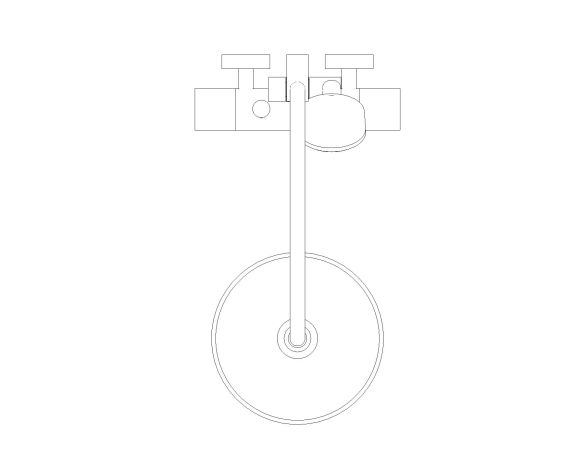 bimstore plan image of the Tempesta System - 250 Shower System - 26670000 from Grohe