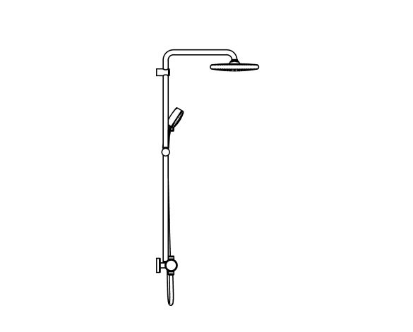 bimstore side image of the Tempesta System - 250 Shower System - 26671000 from Grohe